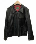 THE FLAT HEAD(ザ・フラットヘッド)の古着「ディアスキンジャケット」|ブラック