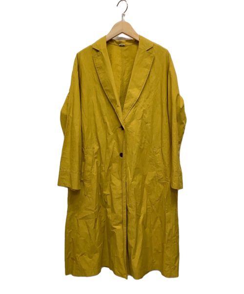 mjuka(ミューカ)mjuka (ミューカ) チェスターコート マスタード サイズ:フリーの古着・服飾アイテム