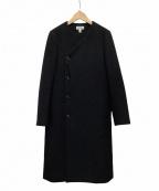 HYKE(ハイク)の古着「ノーカラーコート」|ブラック
