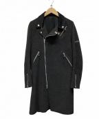 UNDERCOVER(アンダーカバー)の古着「ウールライダースコート」|グレー×ブラック