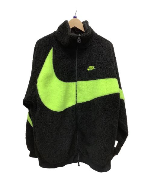 NIKE(ナイキ)NIKE (ナイキ) フリースジャケット ブラック×グリーン サイズ:XLの古着・服飾アイテム