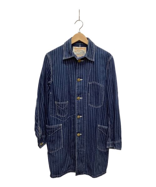SUGAR CANE(シュガーケーン)SUGAR CANE (シュガーケーン) レイルロードコート ネイビー サイズ:Sの古着・服飾アイテム