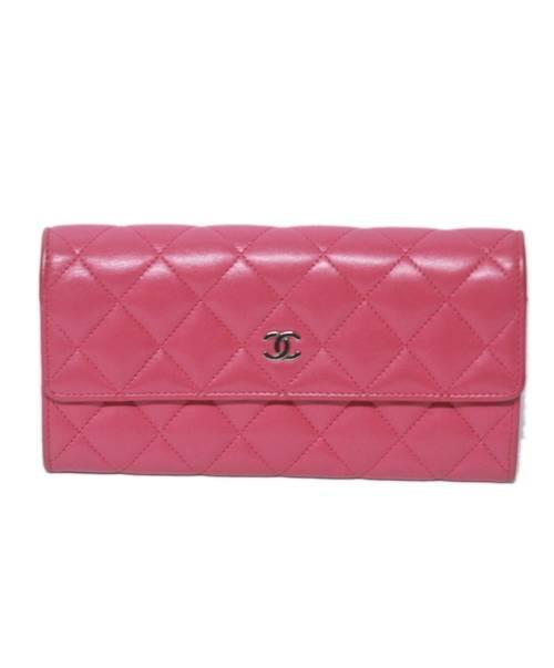 CHANEL(シャネル)CHANEL (シャネル) 長財布 ショッキングピンク マトラッセ  19343067の古着・服飾アイテム
