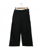 MHL.(エムエイチエル)の古着「ワイドパンツ」|ブラック