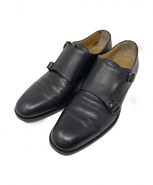 BOSS HUGO BOSS(ボスヒューゴボス)BOSS HUGO BOSS (ボスヒューゴボス) ダブルモンクストラップシューズ ブラック サイズ:6の古着・服飾アイテム