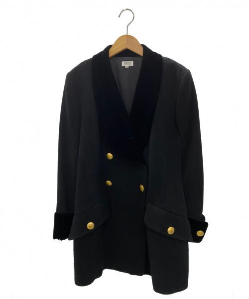 FOXEY BOUTIQUE(フォクシーブティック)FOXEY BOUTIQUE (フォクシーブティック) ダブルコート ブラック サイズ:38の古着・服飾アイテム