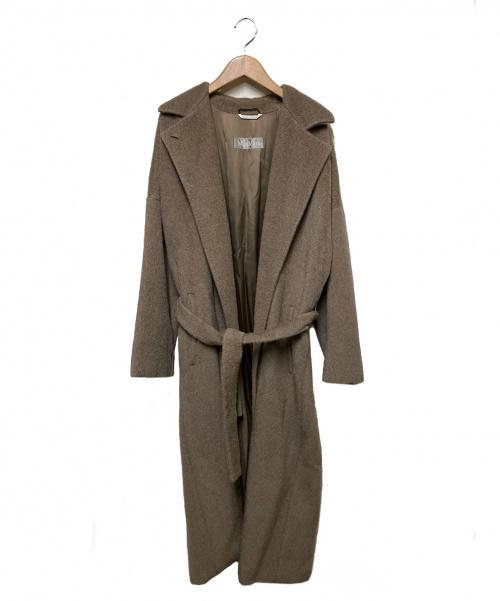 MaxMara(マックスマーラ)MaxMara (マックスマーラ) ロングウールコート ベージュ サイズ:40の古着・服飾アイテム