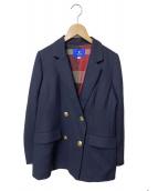 BLUE LABEL CRESTBRIDGE(ブルーレーベルクレストブリッジ)の古着「エレガントポプリンジャケット」 ネイビー