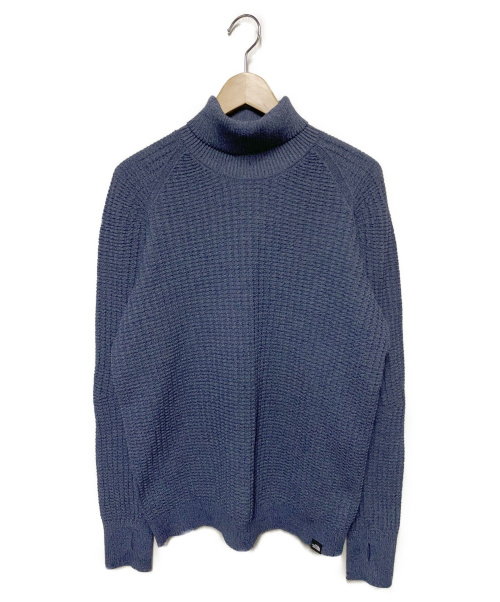THE NORTH FACE(ザノースフェイス)THE NORTH FACE (ザノースフェイス) グローブフィットワッフルハイネック ブルー サイズ:Lの古着・服飾アイテム