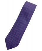 HERMES(エルメス)の古着「ネクタイ」|ネイビー×レッド