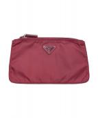 PRADA(プラダ)の古着「フラットポーチ」|ピンク
