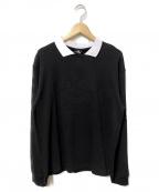 UMBRO(アンブロ)の古着「UMBRO SWEET L/Sポロシャツ」|ブラック