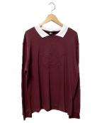 UMBRO(アンブロ)の古着「UMBRO SWEET L/Sポロシャツ」|ワインレッド