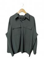 UNTITLED(アンタイトル)の古着「ストレッチシャツ」|グリーン
