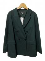 UNTITLED(アンタイトル)の古着「メリノストレッチ ダブルブレストジャケット」|グリーン