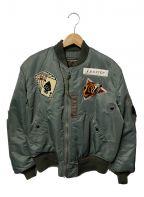 BUZZ RICKSON'S()の古着「MA-1ジャケット」|グリーン