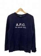 A.P.C.(アーペーセー)の古着「スウェット」 ネイビー