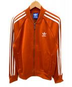 adidas originals(アディダスオリジナルス)の古着「トラックジャケット」 オレンジ