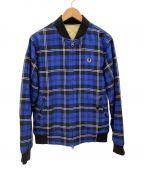 FRED PERRY(フレッドペリー)の古着「ボンバージャケット」 ブルー×ブラック