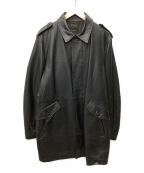 DURBAN(ダーバン)の古着「レザーコート」|ブラック