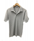 HOMME PLISSE ISSEY MIYAKE(オムプリッセイッセイミヤケ)の古着「ポロシャツ」|グレー