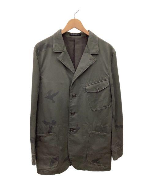 YOHJI YAMAMOTO(ヨウジヤマモト)YOHJI YAMAMOTO (ヨウジヤマモト) チェスターコート ダークグリーン サイズ:2の古着・服飾アイテム