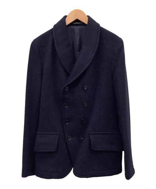 YohjiYamamoto pour homme(ヨウジヤマモトプールオム)YohjiYamamoto pour homme (ヨウジヤマモトプールオム) Pコート ネイビー サイズ:2の古着・服飾アイテム