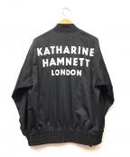 KATHARINE HAMNETT(キャサリンハムネット)の古着「MA-1ジャケット」 ブラック