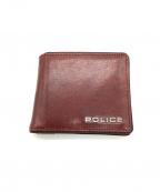 POLICE(ポリス)の古着「2つ折り財布」 ブラウン