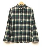 THE NORTH FACE(ザノースフェイス)の古着「ネルシャツ」|グリーン