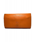 IL BISONTE(イルビゾンテ)の古着「長財布」|オレンジ