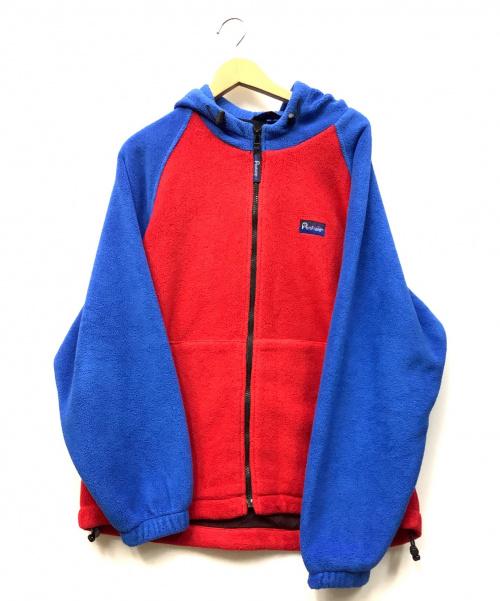 Pen Field(ペンフィールド)Pen Field (ペンフィールド) フリースジャケット レッド×ブルー サイズ:Mの古着・服飾アイテム