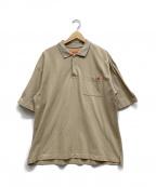 UNIVERSAL OVERALL(ユニバーサルオーバーオール)の古着「ポロシャツ」 カーキ