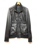 SHIPS JET BLUE(シップスジェットブルー)の古着「レザージャケット」 ブラック