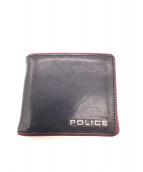 POLICE(ポリス)の古着「2つ折り財布」|ネイビー×レッド