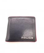 POLICE(ポリス)の古着「2つ折り財布」 ネイビー×レッド