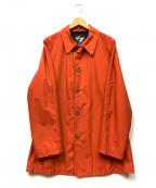 FAT(エフエーティー)の古着「ステンカラーコート」 オレンジ