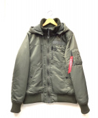 ALPHA(アルファ)の古着「フライトパーカージャケット」 オリーブ