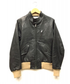 BEAUTY&YOUTH UNITED ARROWS(ビューティーアンドユース ユナイテッドアローズ)の古着「レザージャケット」|ブラック
