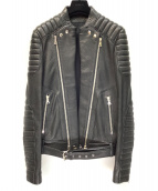 BALMAIN(バルマン)の古着「レザーライダースジャケット」|ブラック