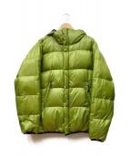 MILLET(ミレー)の古着「リバーシブルダウンジャケット」|ブラック×ライトグリーン