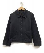 MARGARET HOWELL(マーガレットハウエル)の古着「コットンジャケット」|ブラック