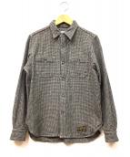 ()の古着「ウールシャツ」|グレー