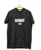 GIVENCHY(ジバンシィ)の古着「デストロイドオーバーサイズT」|ブラック
