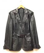Jean Paul Gaultier homme(ジャンポールゴルチェオム)の古着「レザージャケット」 ブラック