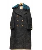KENZO H&M(ケンゾー×エイチ&エム)の古着「コート」|ブラックコート KENZO H&M