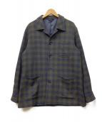 FLLI ORMEZZANO(オルメザーノ)の古着「ウールジャケット」 ネイビー×グリーン