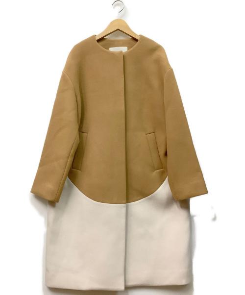 DOUBLE STANDARD(ダブルスタンダード)DOUBLE STANDARD (ダブルスタンダード) ノーカラーコート ブラウン サイズ:不明の古着・服飾アイテム