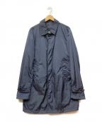 HERNO(ヘルノ)の古着「ナイロンステンカラーコート」 ネイビー