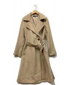 ()の古着「カシミヤコート」|ベージュ